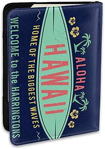Aloha Hawaiian Surfer Willkommen personalisierte Mode Leder Passinhabers Covers Case Travel Wallet