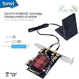 Fenvi FV-K1200AC Bigfoot Network Doubleshot Wireless-AC 1200Mbps + BT PCI-E Desktop Network Card Desktop Wireless Card Gaming