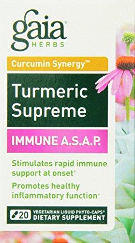 Turmeric Supreme Immune A.S.A.P Gaia Herbs 20 Caps