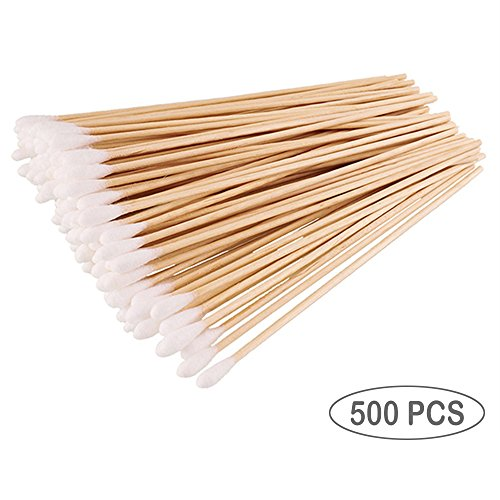 Cotton Swabs For Beauty & Personal Care, Long Cotton Tipped Applicator Sticks With Wooden Handle , 6