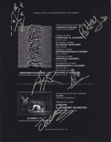 Peter Hook & The Light - Joy Division - Authentic Autographed 11x14 Photograph by JG Autographs, Inc.