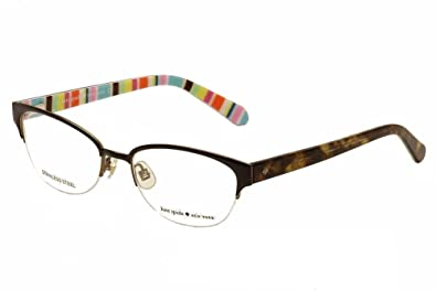 de4f8fb167 Amazon.com  Kate Spade Shayla Eyeglasses-0W34 Brown Striped -51mm  Shoes