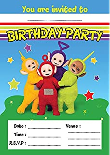 TELLETUBBIES CHILDRENS BIRTHDAY PARTY INVITES INVITATIONS X 10 PACK