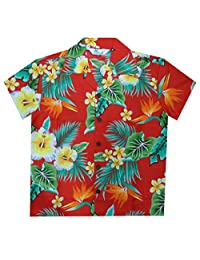 Alvish Hawaiian Shirts Boys Flower Leaf Beach Aloha Party Camp Holiday Casual