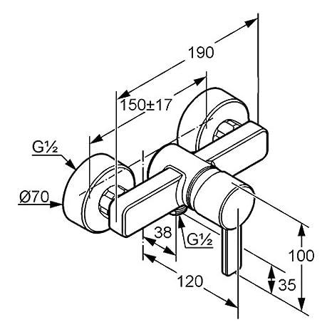 Kludi Zenta Shower Mixer Dn 1 Chromeblack 388 708 675