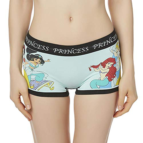 Women's Seamless Boyshort Panties- Classic Cartoon Characters, Disney Princess, Size XL