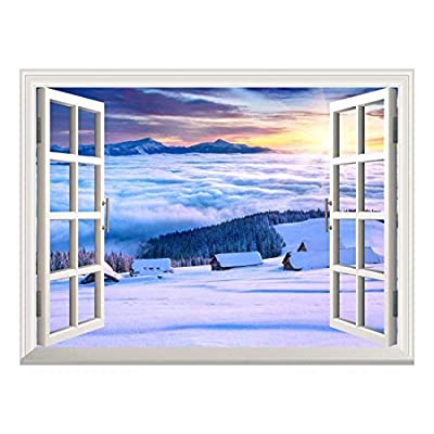 With a Professional Touch, Dazzling Creative Design, Wallpaper Large Wall Mural Series ( Snow Landscape on Mountain)