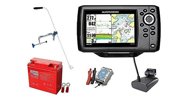 Humminbird Helix 5 XD GPS Echolot (50/200 kHz) Portable-Set XXL-3 ...