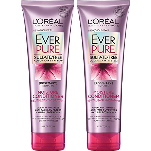 L'Oreal Paris Hair Care Everpure Sulfate Free Moisture Conditioner, 2 Count