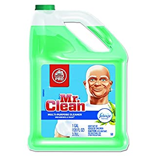 Mr. Clean Multipurpose Cleaning Solution with Febreze, 128 oz. Capacity Bottle, Meadows and Rain Scent