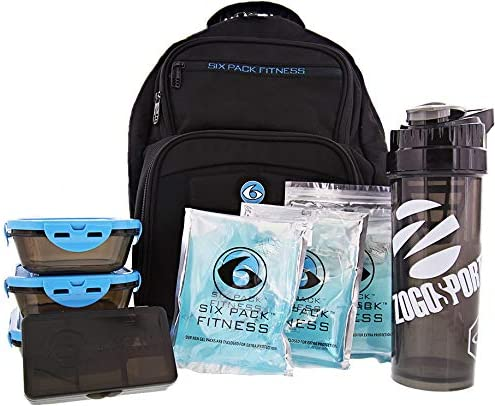 Fitness Expedition Backpack W/ Removable Meal Management System 300 Black/Neon Blue by 6 Pack Fitness: Amazon.es: Hogar