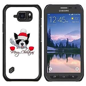 EJOOY---Cubierta de la caja de protección para la piel dura ** Samsung Galaxy S6Active Active G890A ** --Invierno Navidad Pug Boston Terrier X Mas de vacaciones