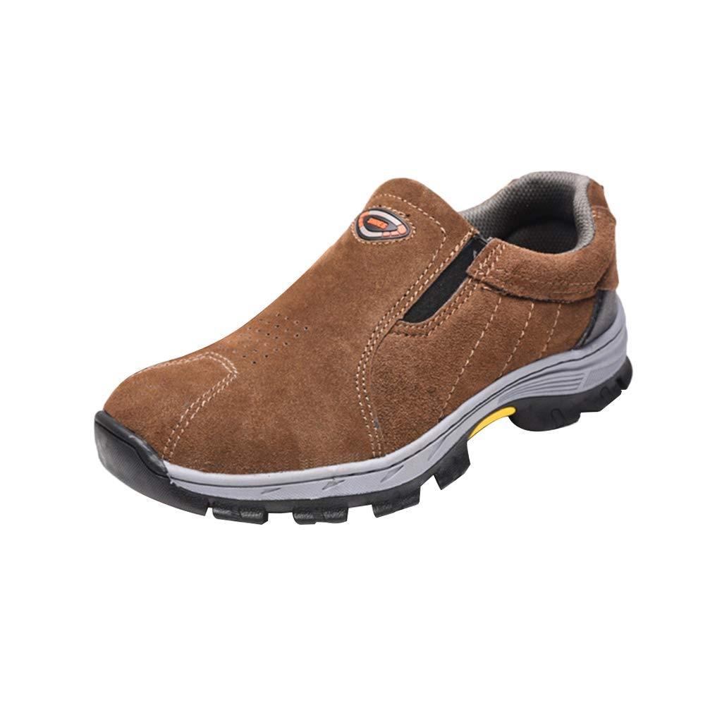 KESOTO 1 Paar Sicherheitsarbeitsschuhe Stahlkappe Wasserabweisende Stoß Absorbierende Stiefel