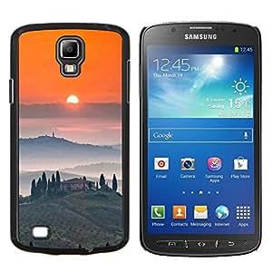 Vino Tosca Paisaje Amanecer- Metal de aluminio y de plástico duro Caja del teléfono - Negro - Samsung i9295 Galaxy S4 Active / i537 (NOT S4)