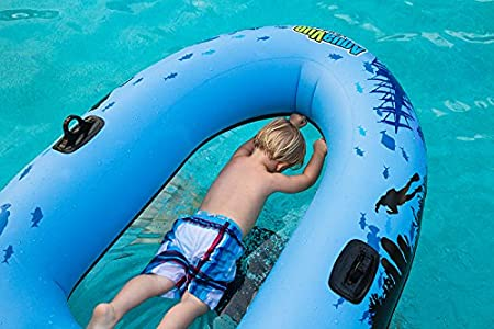 Clear Bottom Inflatable Raft Sieco Design AQUAVUE Voyager for Kids and Adults