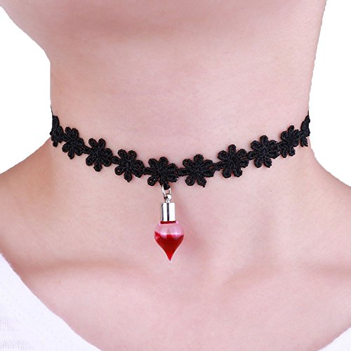 [Usstore 1PC Pendants Halloween Plasma Bottle Pendant Necklace Lace Necklace Partty Gift Alloy] (2016 Womens Halloween Costumes Diy)