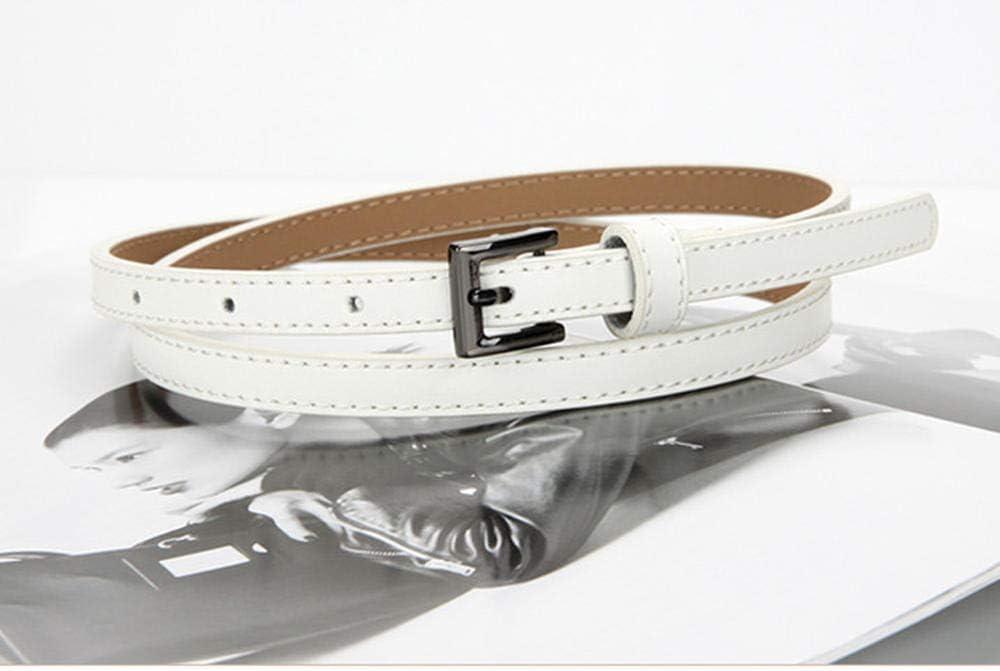 SANYUE ceinture mince simple cuir tendance peut être noué blanc