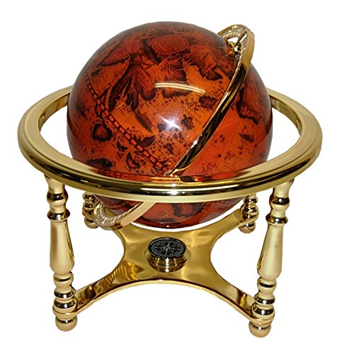 (D) Old Style Globe Shaped Bar Cabinet with Four Legs 13 Inches by GIFTS PLAZA