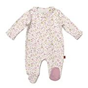 Magnificent Baby Cotton Magnetic Footie, Holly Berry