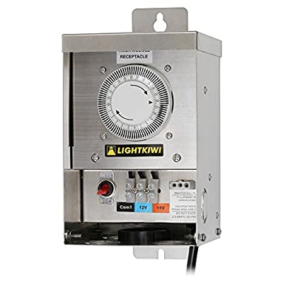 Lightkiwi U2184 75 Watt (12V-15V) Multi-Tap Low Voltage Transformer for Landscape Lighting