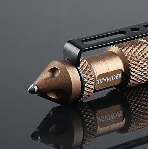 ASTRO Ballpoint Pen TP1A Aluminum Glass-breakers Self-Protection Pen Multi-function Tool Black