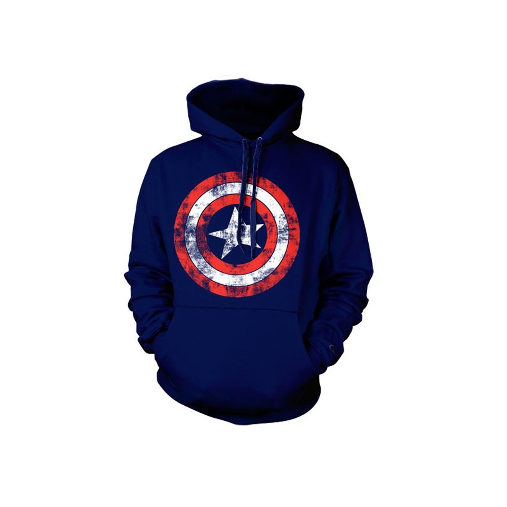 Marvel Captain America Distressed Shield Kapuzenpullover
