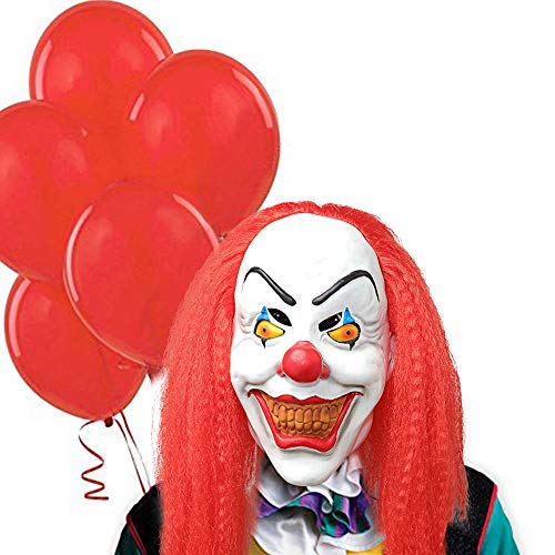 Halloween Scary Clown Mask Pennywise Stephen King's It Mask Halloween Horror Decoration for Adults]()