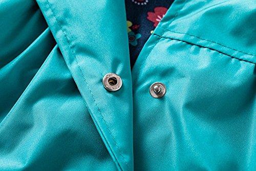 de impermeable Escudo estampado Aileese con azul animal larga manga fS5756x