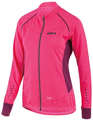 Louis Garneau Women's Thermal Pro Long Sleeve Cycling Jersey, Pink Glow, XX-Large