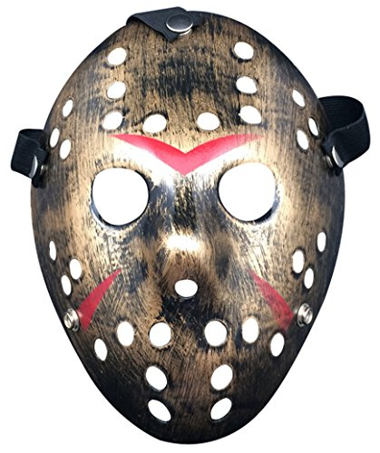 Friday The 13th Jason Hockey Mask (Friday the 13th Jason Hockey Horror Deluxe Mask,Copper)
