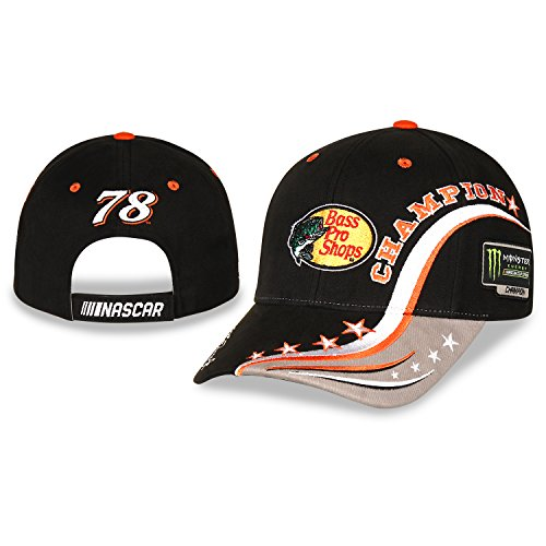 Checkered Flag NASCAR Adult Championship Martin Truex Jr Bass Pro Racing Hat/Cap Checkered Flag Nascar Racing Cap