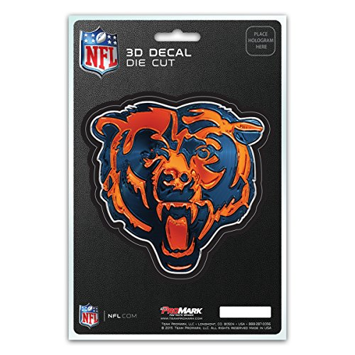 NFL Chicago Bears 3-D Decal (Chicago Bears Sticker)