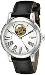 Tissot Women's T050.207.16.033.00 Silver with Skeletal Display Dial Watch