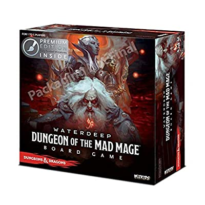 WizKids 73591 Dungeons and Dragons Waterdeep: Dungeon of The Mad Mage Adventure System Board Toy (Premium Edition): Toys & Games