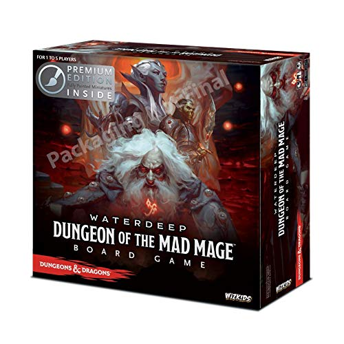 WizKids 73591 Dungeons and Dragons Waterdeep: Dungeon of The Mad Mage Adventure System Board Toy (Premium Edition) ()