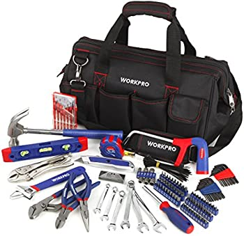 Workpro 156-Piece Home Repair Tool Set with Bag