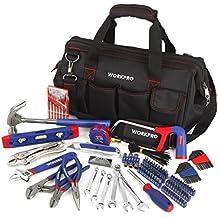 [Patrocinado] Conjunto de 156 herramientas para el hogar. Complete tareas cotidiana utilizando herramientas de mano en bolsa de boca amplia, para herramientas.WORKPRO
