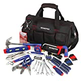 WORKPRO 156-piece Home Repairing Tool Set, Complete Daily Using Hand Tools in Wide