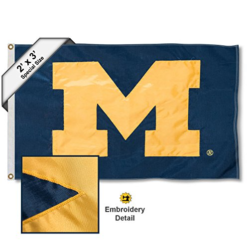 College Flags and Banners Co. Michigan Wolverines 2x3 Foot Embroidered Flag