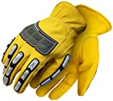 BDG 20-1-10695-L Leather Back Hand Impact Glove, Large