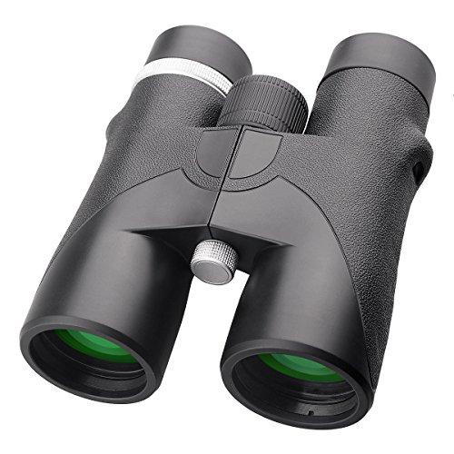 ACRATO Fernglas Dachkantfernglas Ferngläser HD 10x42 Binocular,FMC Grünfilterfolie BAK4 Lens Vergrößerung Doppelfernrohr für Vogelbeobachtung Jagd Klettern Fussballspiel, Wasserdicht mit Schutztasche und Trageriemen