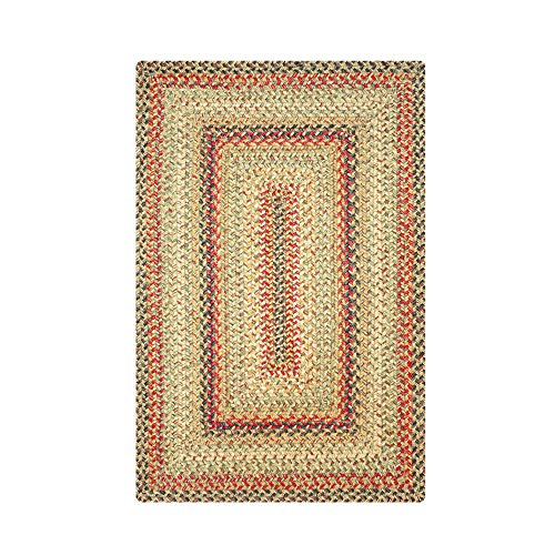 """Rectangle Jute Braided Rug - All Natural Fiber 27"""" x 45"""" Area Rug, Made with Natural Jute Twine - A Reversible Rug for Rustic Home Décor - Homespice Kingston Rectangle Jute Rug 27"""" x 45"""""""