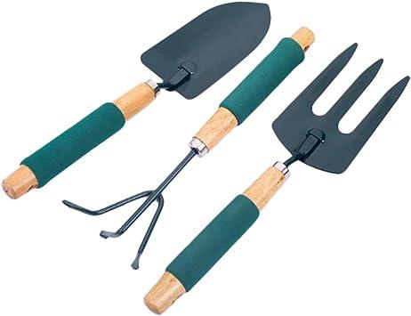 B Blesiya Juego De 3 Pcs Herramientas de Pala + Horquilla + Rastra para Jardín: Amazon.es: Bricolaje y herramientas