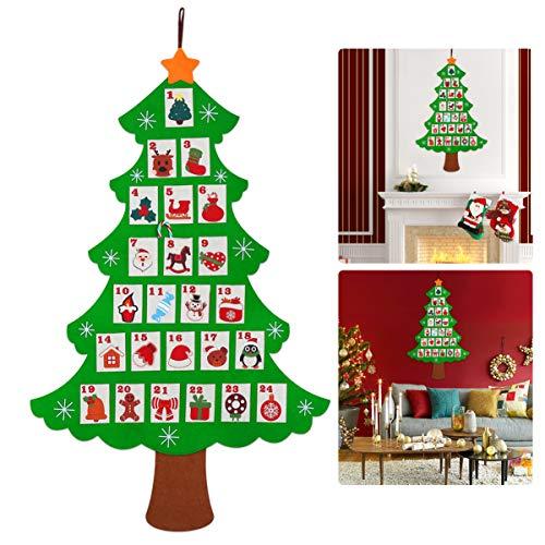 NICEXMAS Christmas Advent Calendar Countdown to Christmas (62 x 107cm) (107 Days Until Christmas)