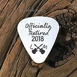 Officially Retired Guitar Pick Retirement Gift Mens Gift For Music Lover Retiree Gift Retirement Party Gift For Retired Boss Guitar Pick