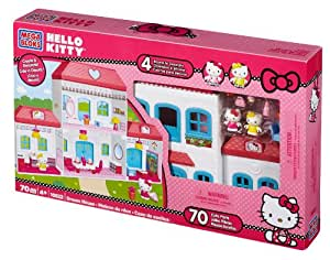 Mega Bloks - Casa de Hello Kitty con 2 figuras y accesorios