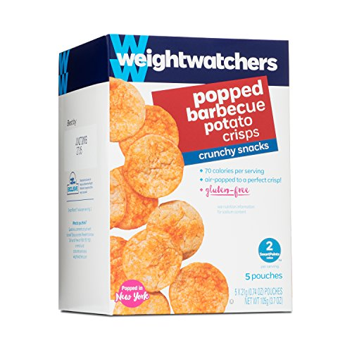 Weight Watchers Popped Crisps, BBQ, 5 bags per box