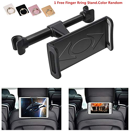 KURAMI Car Headrest Mount, 360°Rotated Car Headrest Bracket Tablet Headrest Holder Compatible with 4