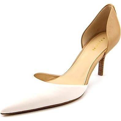 3e6fb318d4 Amazon.com   Coach Women's Belle Chalk/Nude Pump Sandal (7.5)   Pumps