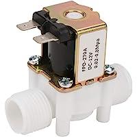 "Hongzer Válvula de Agua, solenoide de Entrada eléctrica de plástico y latón de 12V G1 / 2""NC Válvula de Agua para dispensador de Agua, Lavadora, riego por aspersión de jardín"